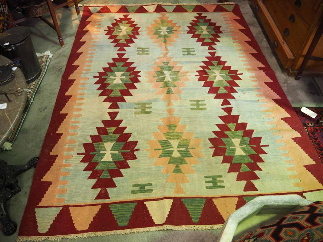 Wool on wool hand made Kilim from Kayseri - Turkey.