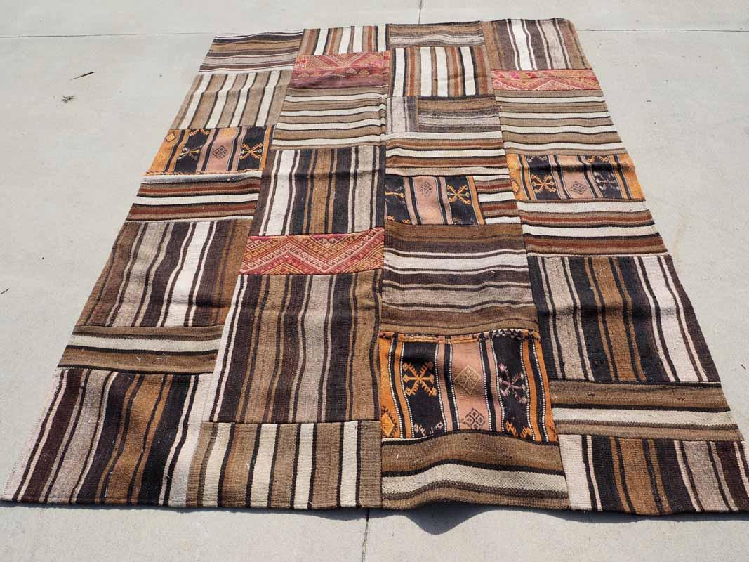 Antique Kilim Patchwork carpet from Anatolia Turkey