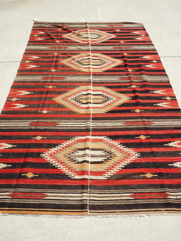 Wool on wool hand made Kilim from Sivas. Approximatley 75 years old