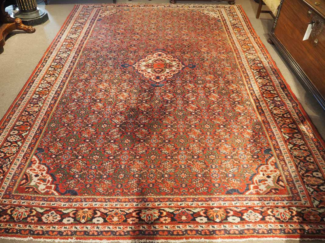 North-West Persian, Hussainabad Tribal carpet, wool on wool. Approximately 70 years old