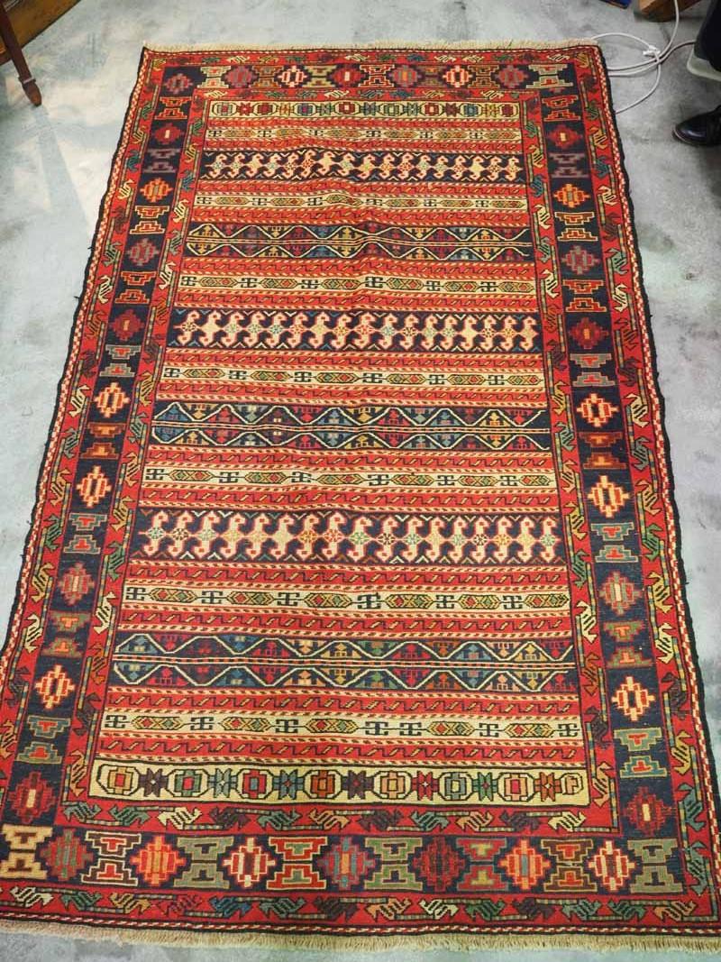 Rahra North west Persian wool on wool warp wrapped Kilim