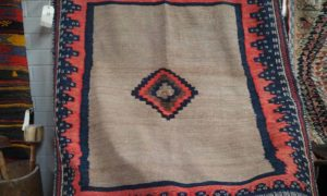 Wool hand loomed kilim Sofreh or eating mat. Approximately 40 years old