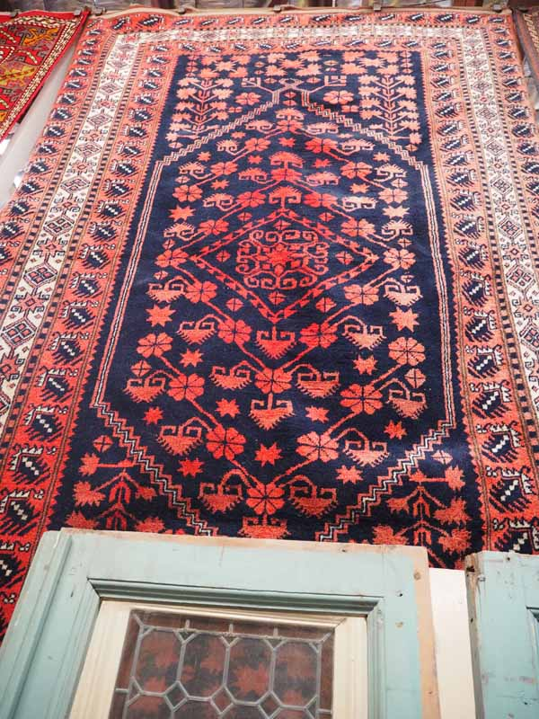 Wool on Wool Double knotted, hand made Turkish carpet from Yacibedar - Balekisir. Approximately 80 years old. With a very nice Tribal design