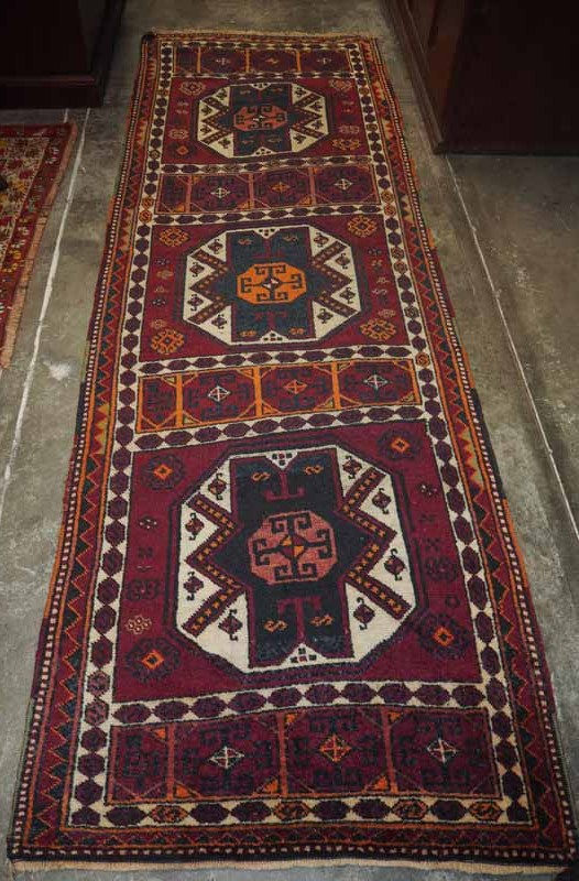 Wool on wool double knotted hand made Turkish Runner from Malatyer, Approximately 100 years old