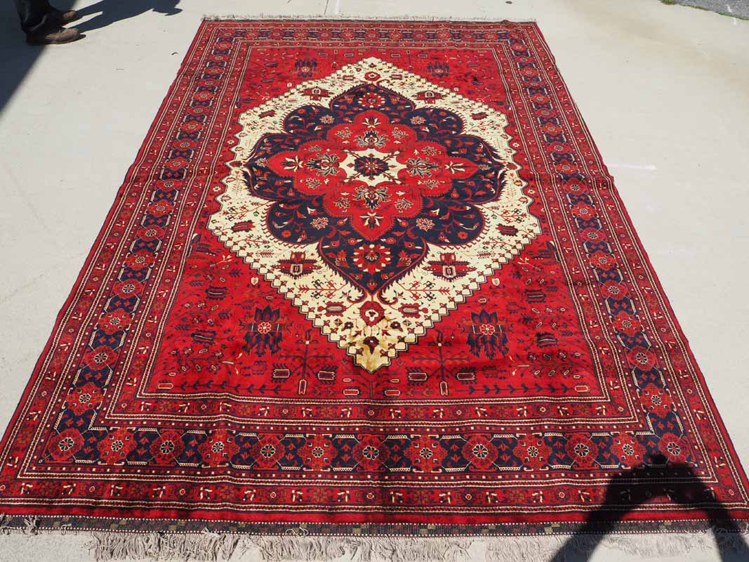 Very Finely Woven Wool on cotton carpet from Afghanistan Bilcik