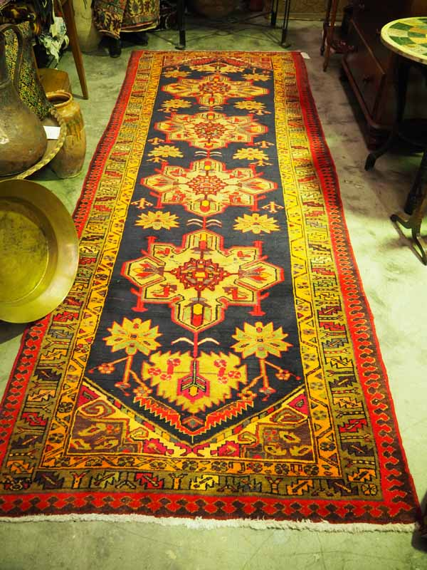 Wool on cotton hand knotted Persian Runner from Ardebil. Approximatley 25 - 30 years old