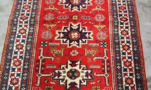 Finely knotted wool on cotton Carpet Balouch. Approxikately 60 years old