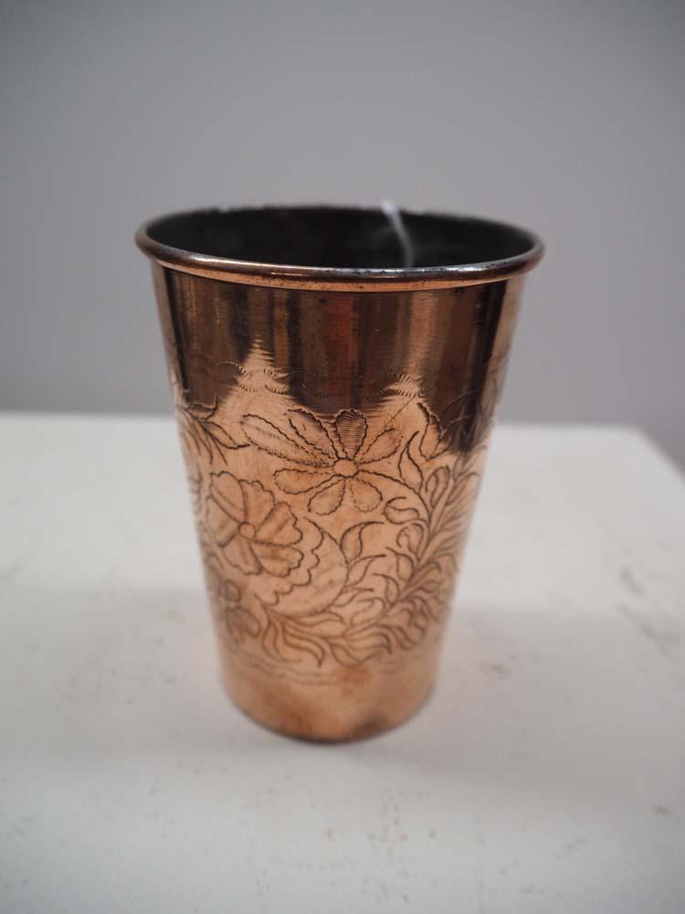 Copper Engraved Ottoman Beaker