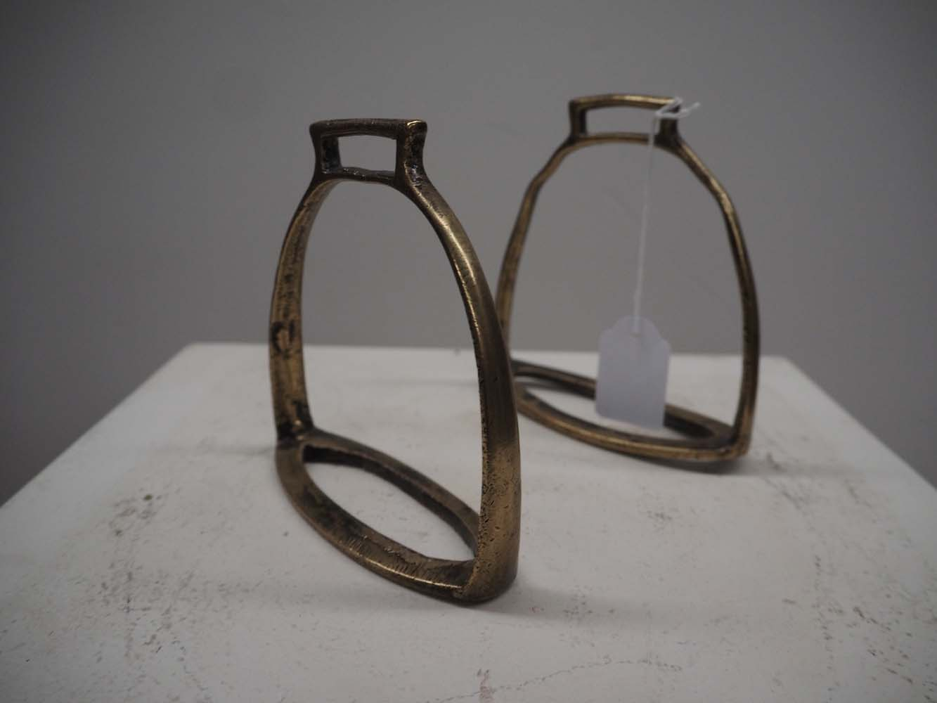 Pair of Ottoman Period 19th Century Bronze Stirrups