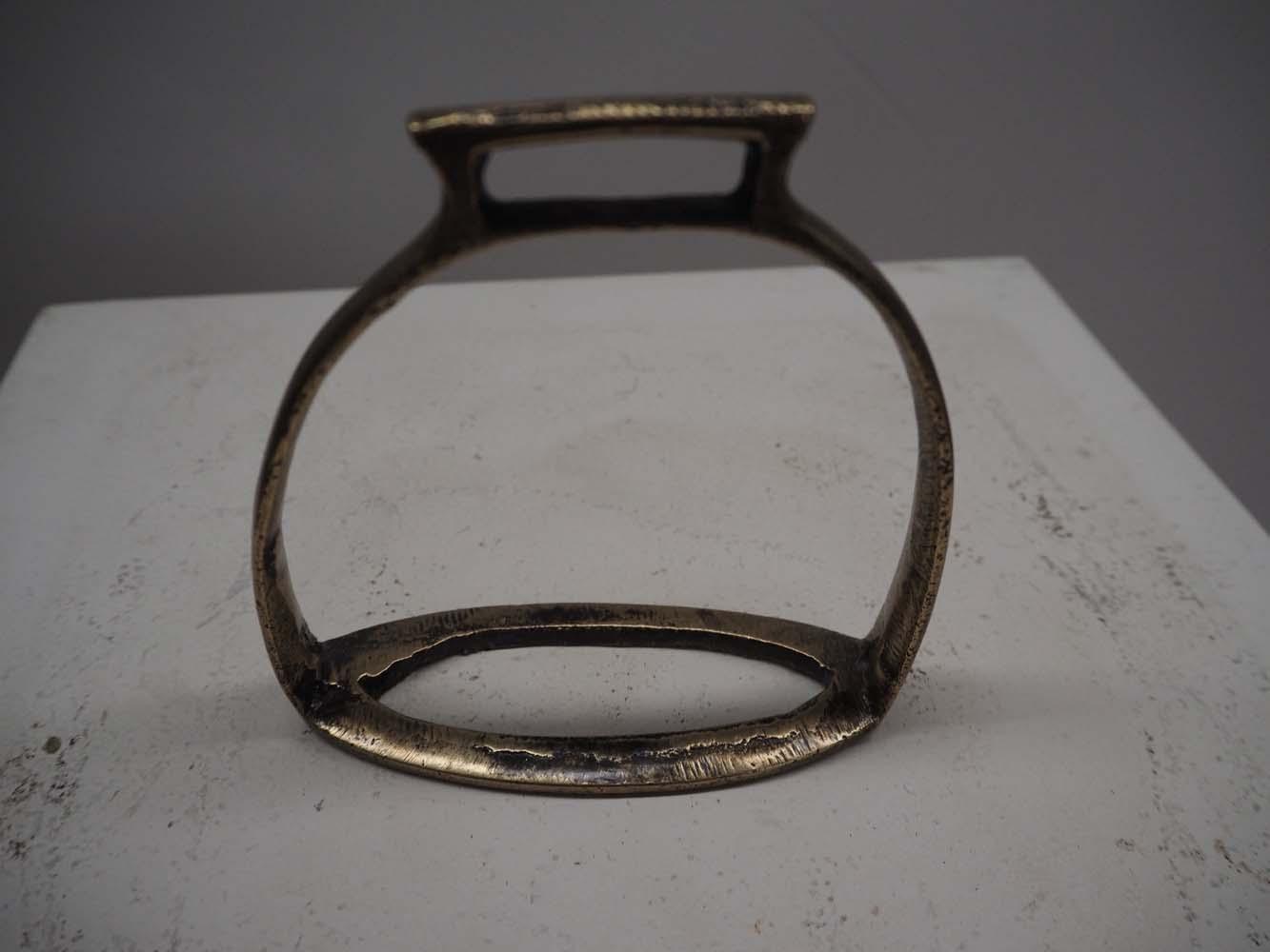 Pair of Ottoman Period 19th Century Bronze Stirrups