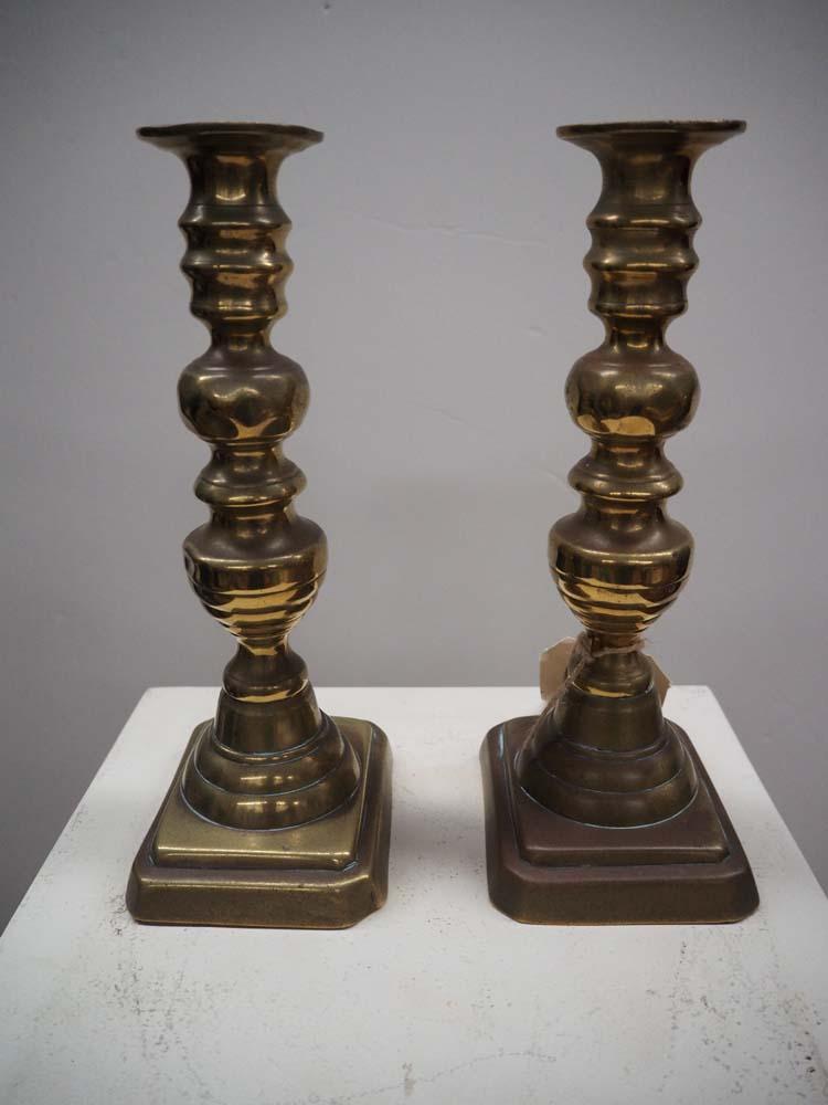 Pair 19th Century Brass CandleSticks