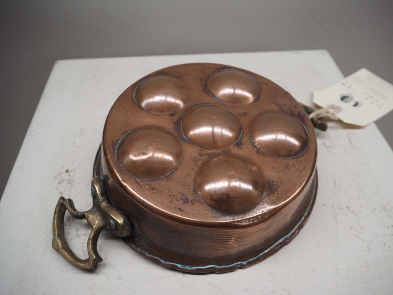 Ottoman Copper & Brass Egg pan