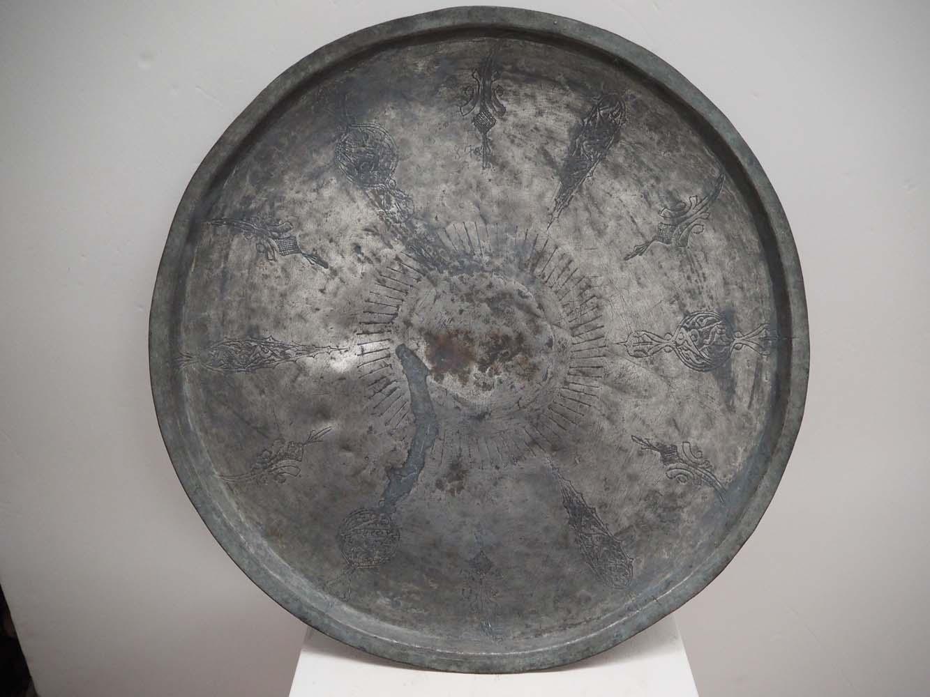 19th Century tinned copper Ottoman tray