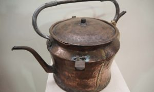 Antique Metal Copper Army Ottoman tea kettle