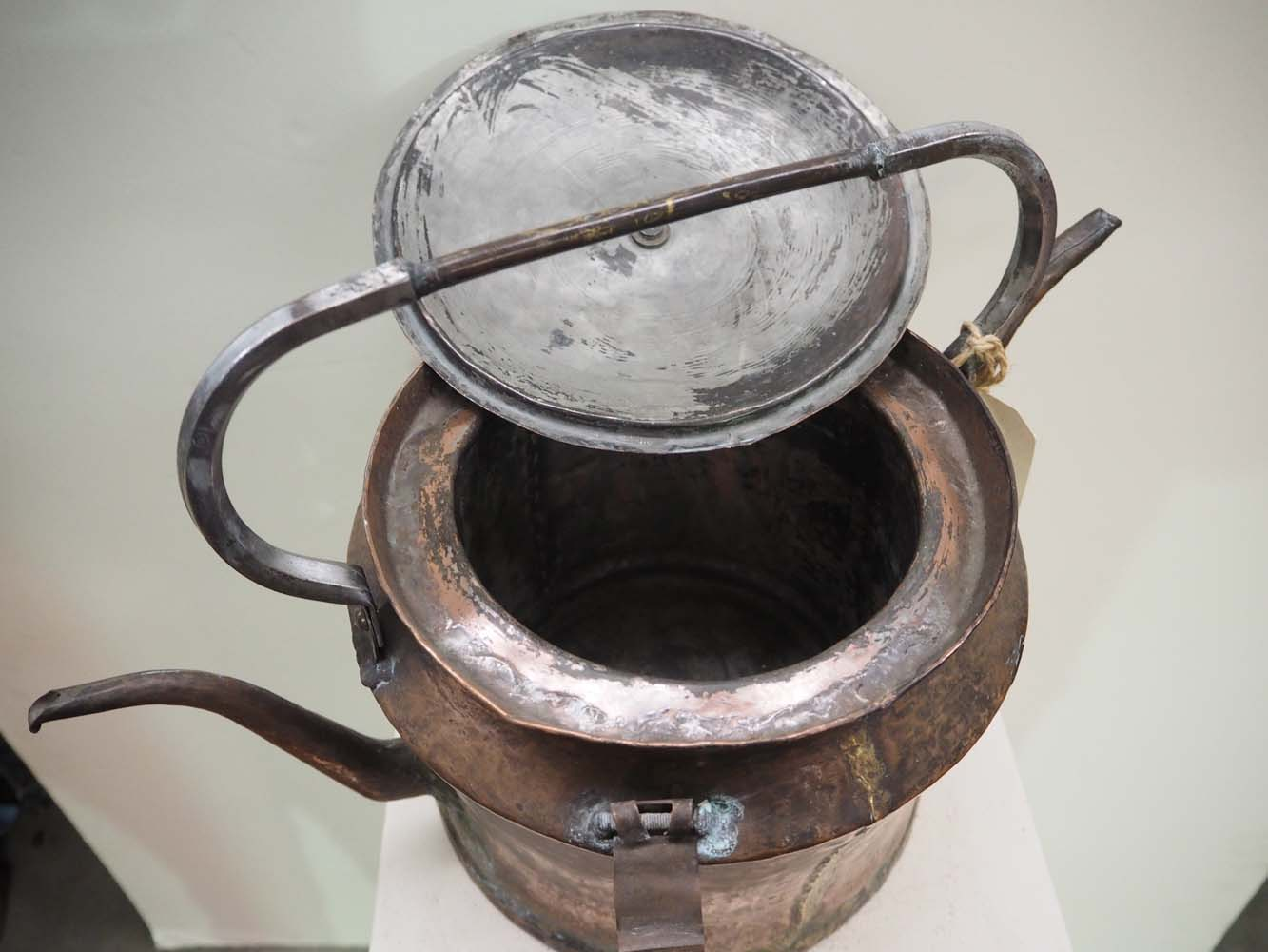 Ottoman period army copper hot water & tea kettle
