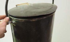 Antique Metal homeware Steel and brass