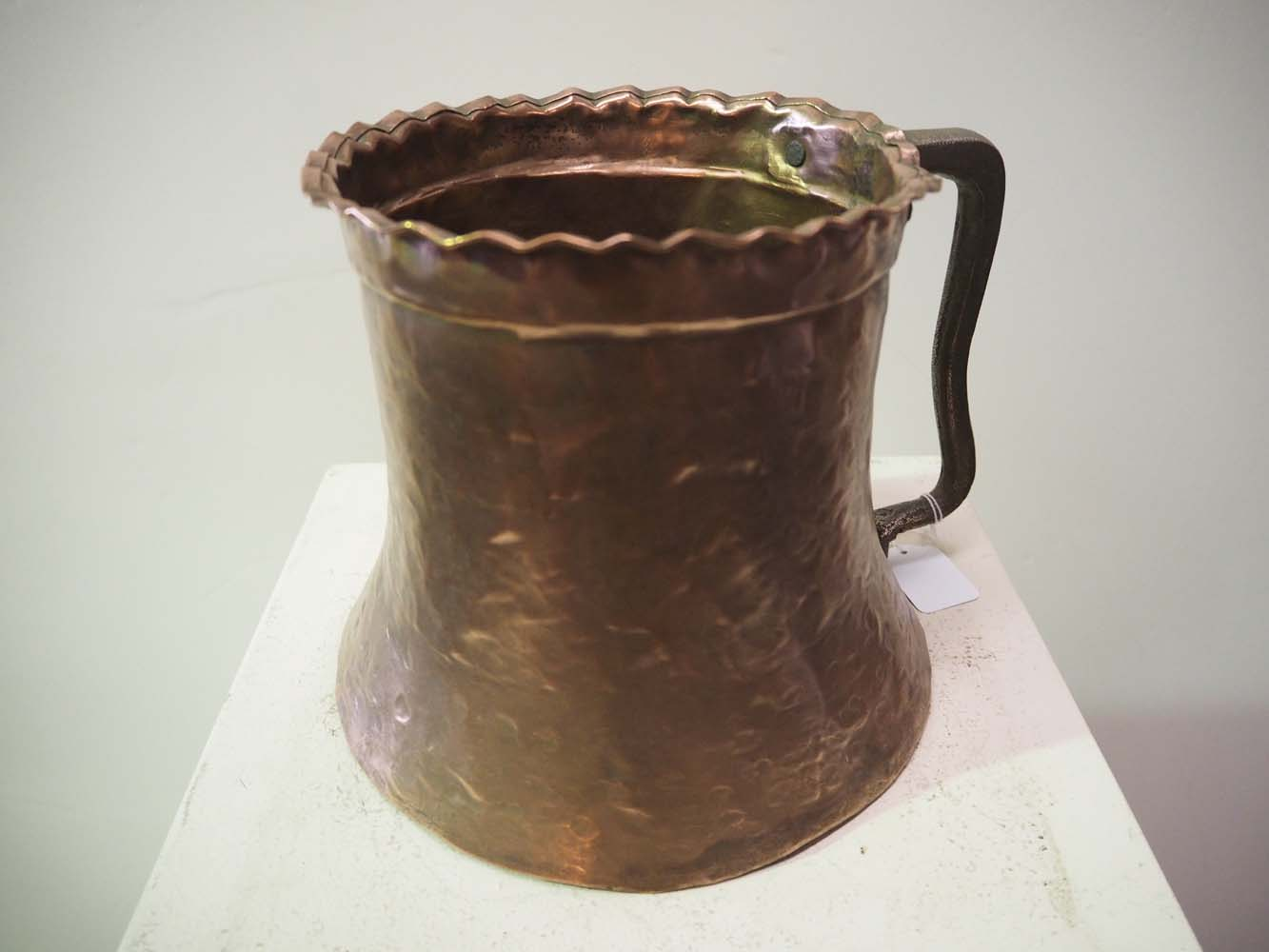 Antique Turkish ottoman copper pot metal homewares