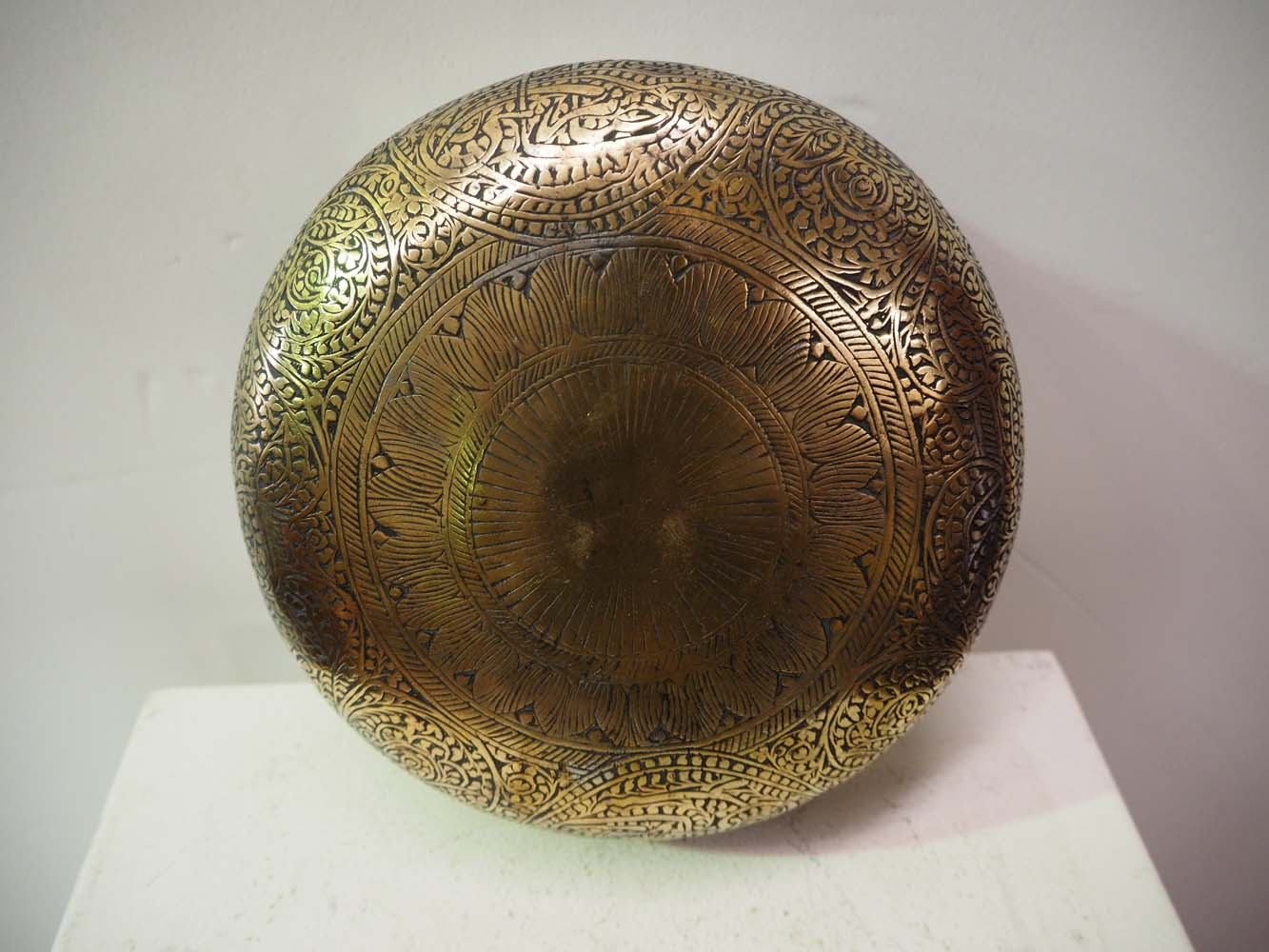 Brass And tin Ottoman Turkish antique bowl