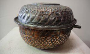 Antique Ottoman Period homeware lidded Pot