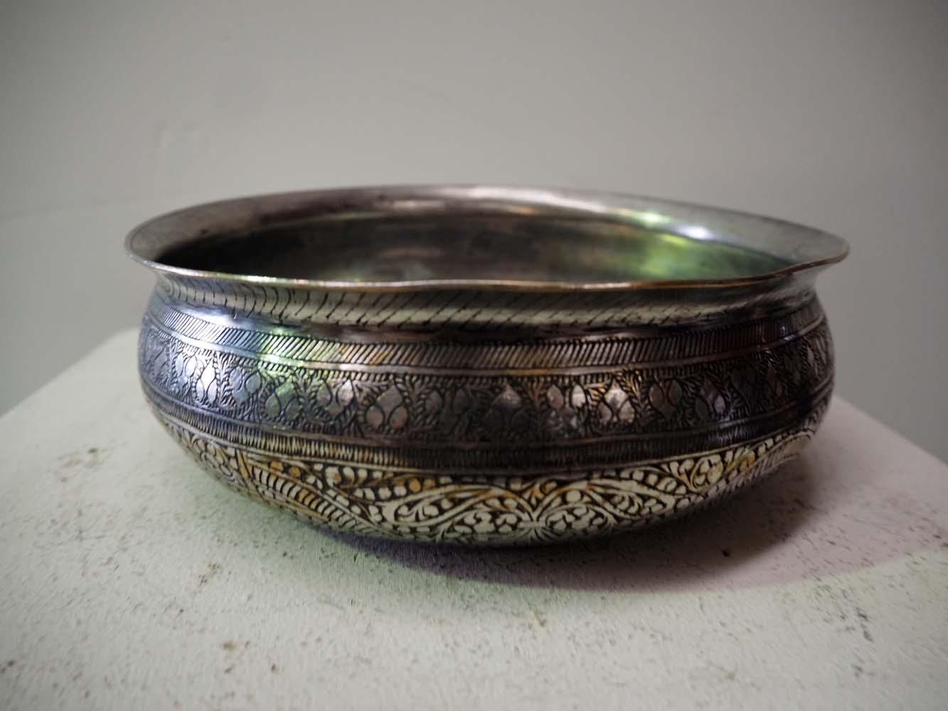 Antique Ottoman engraved turkish bowl homewares