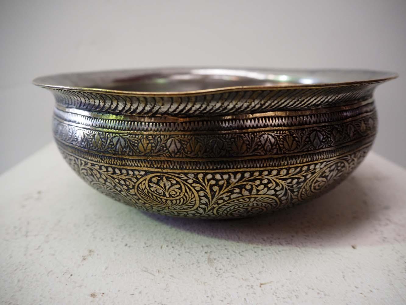 Antique Turkish Ottoman Hamam bowl homeware metal