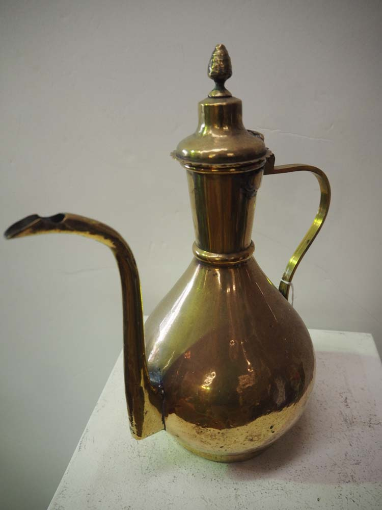 Antique Homewares metal Ottoman period brass coffee pot