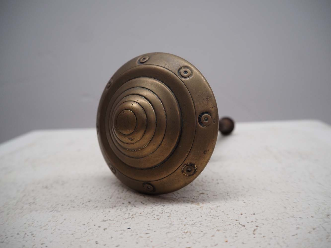Ottoman Period mid 19th century bronze 'Turban Shaped' Front Door knob
