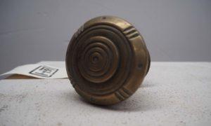 Late 19th century brass front door knob
