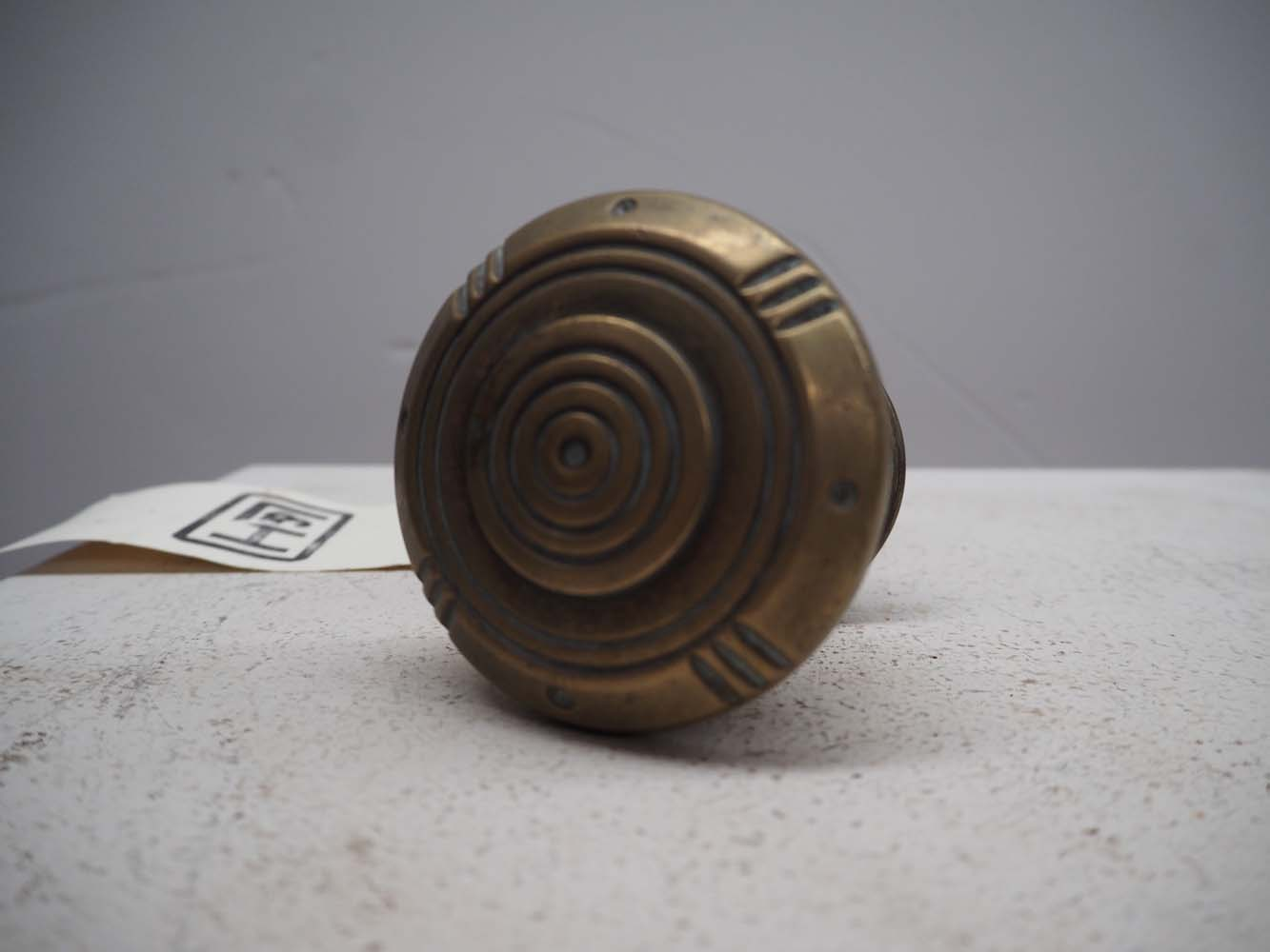 Late 19th century brass front door knob