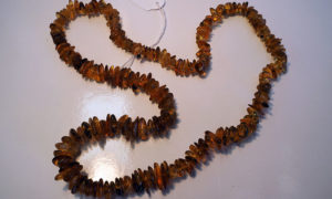 Tumbled Burmese amber beaded necklace