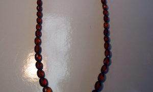 Vintage Facetated amber necklace