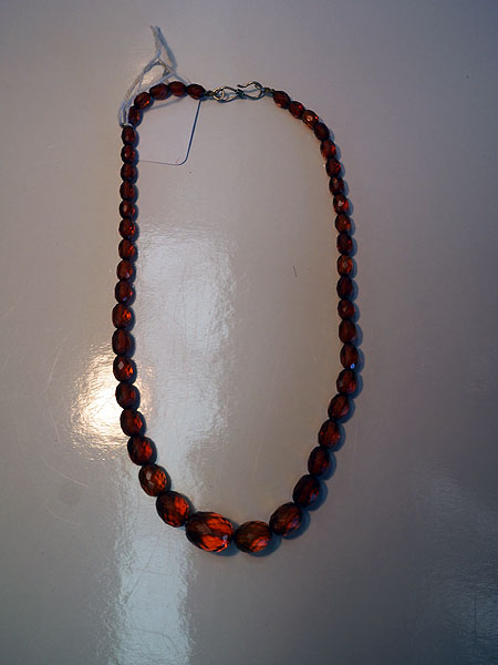 Vintage Facetated amber necklace