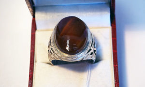 Turkish Silver & Carnelian Ring