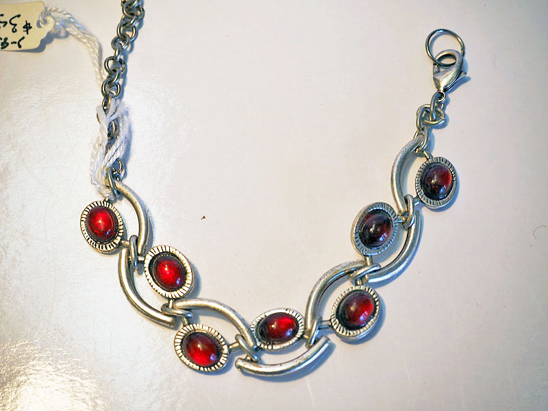 Glass and Nickel Turkish Bracelet