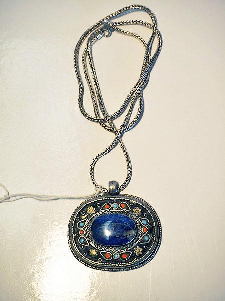 Silver & Lapis Necklace