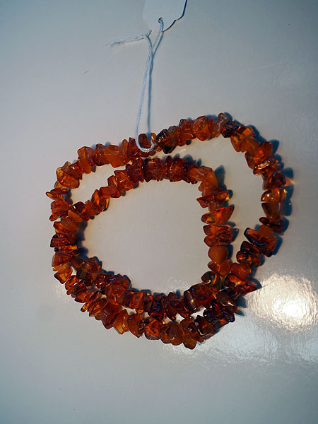 Mid 20th century amber rough cut necklace