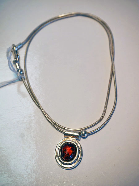 Sterling Silver & Amber necklace
