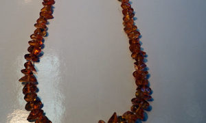 Mid 20th century amber necklace