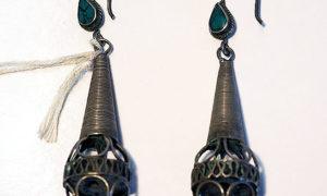 Turkoman Silver & Turquoise Earrings