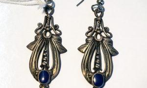 Turkoman Silver & Lapis Earrings