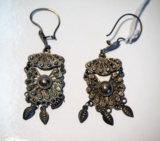 Turkoman Silver Earrings