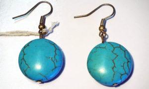 Turkoman Turquoise earrings