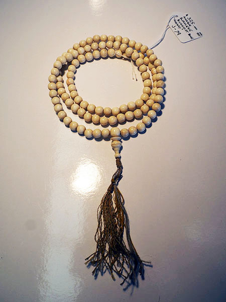 "Antique Burmese Buddhist bone ""rosary "" Necklace"