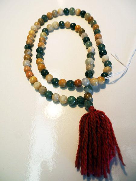 "Antique Burmese Buddhist jade ""rosary "" Necklace"