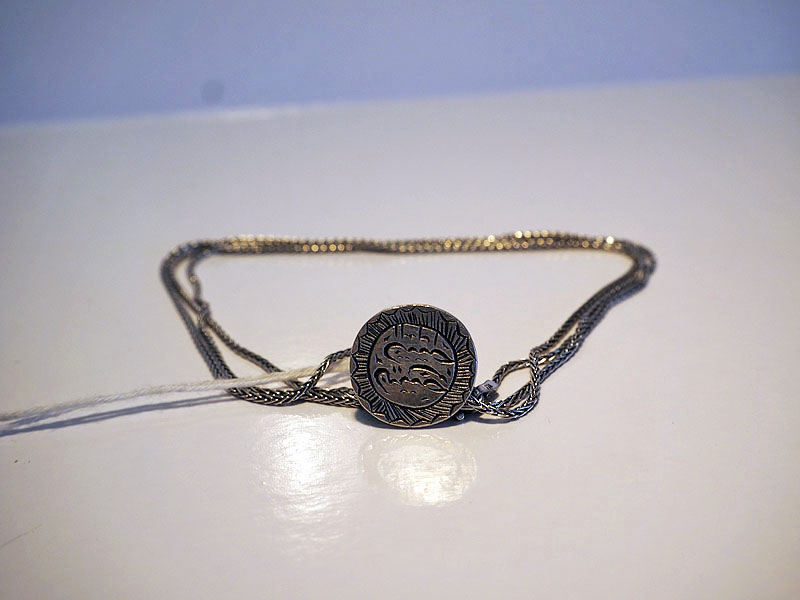Ottoman period silver silver seal necklace
