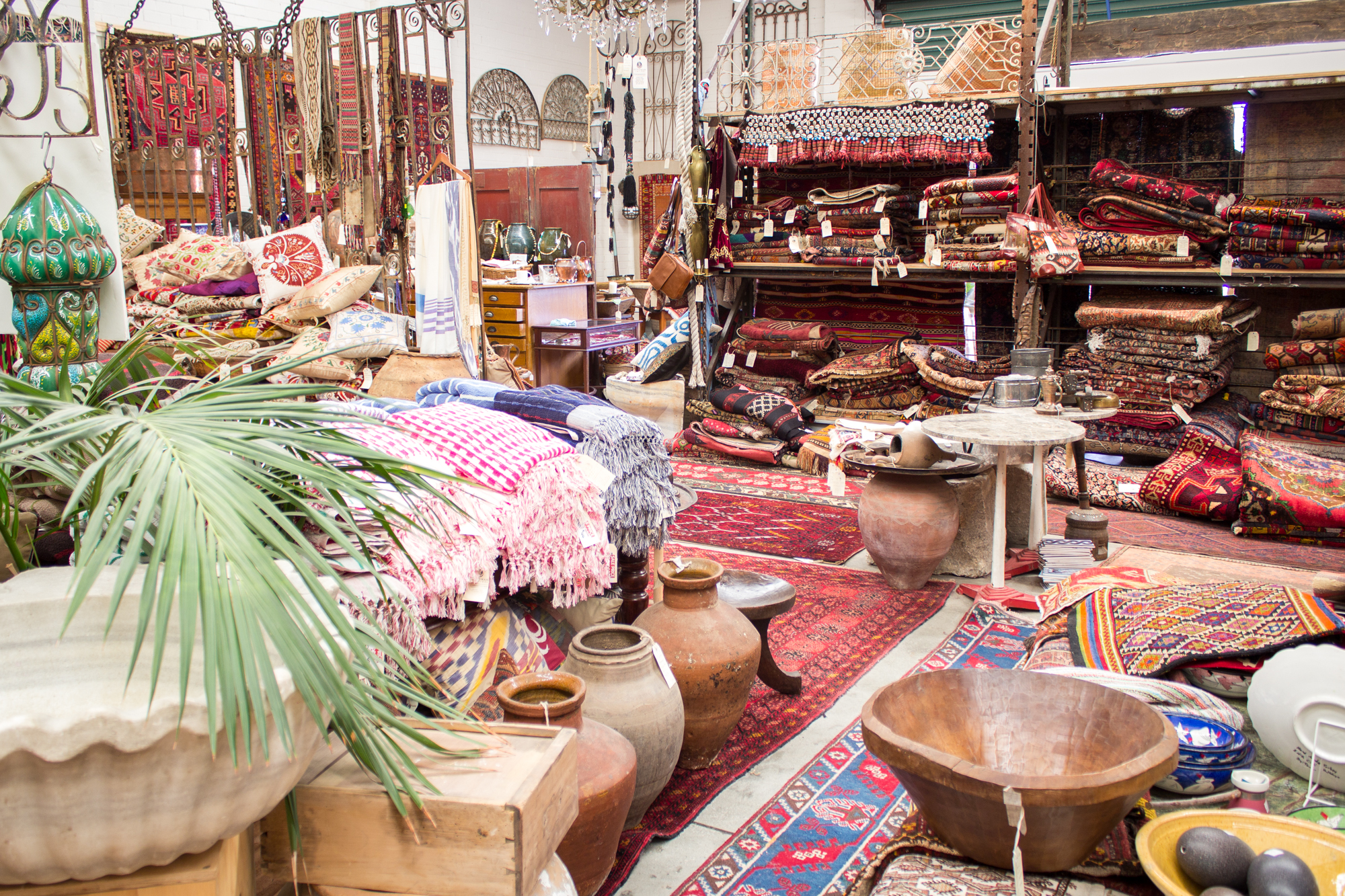 Ottoman Empire antiques, rugs shop picture