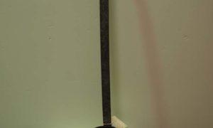 Ottoman period hand beaten tinned copper & iron ladle