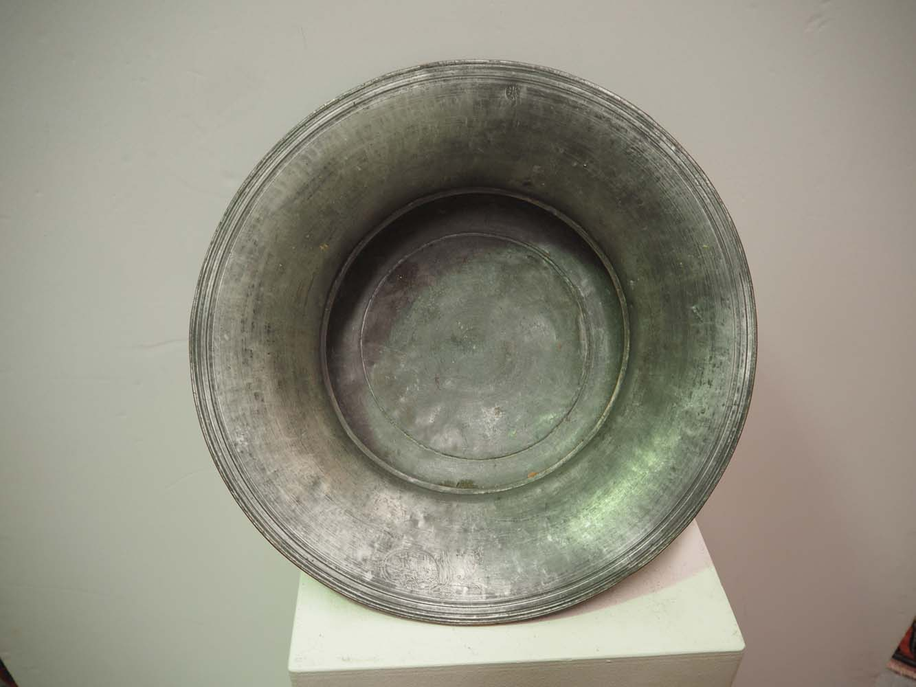 Fine early 19th century ottoman tinned copper engraved bowl