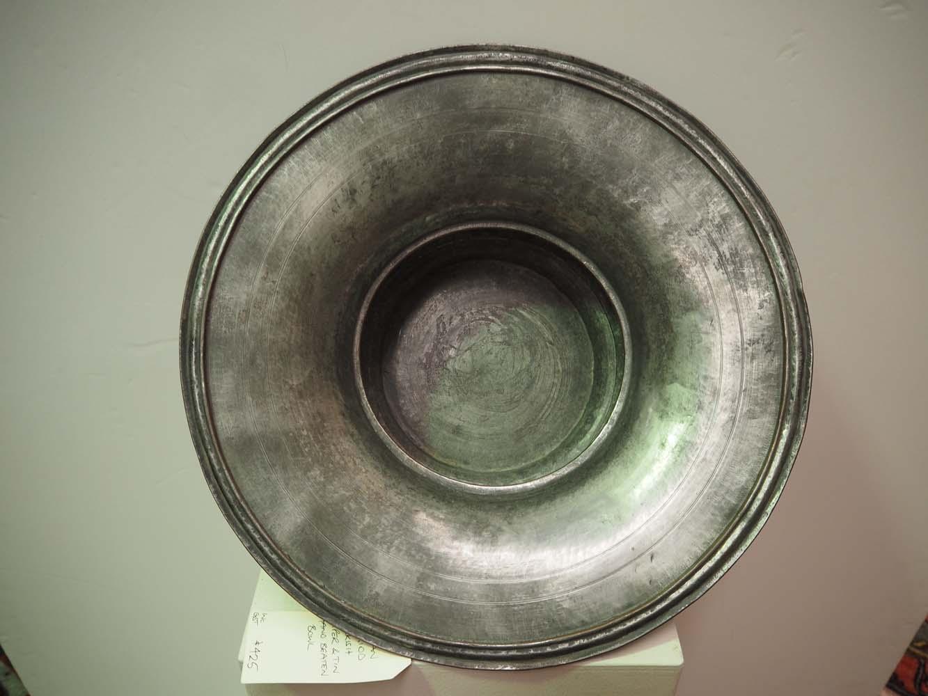 Ottoman period turkish copper & tin hand beaten bowl