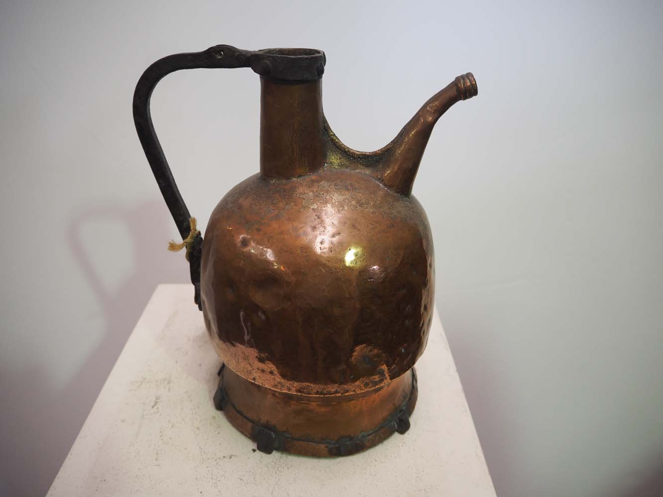 Antique Metalwork homewares Ottoman period copper jug